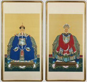 A Pair Of Late 19th / Early 20th Century Chinese