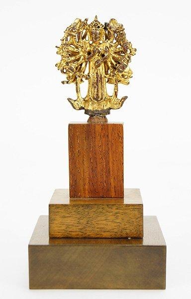 A Chinese Bronze Bodhisattva Avalokiteshvara.