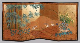 A Japanese Four-panel Screen.