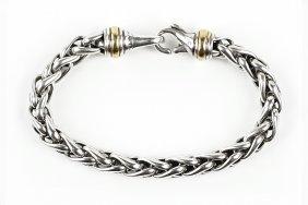A David Yurman Wheat Chain Bracelet.