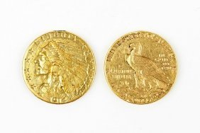 Two 1914 Gold Liberty Coins.