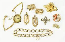 A Collection Of Victorian Goldfilled Jewelry.