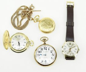 A Group Of Three Pocket Watches.