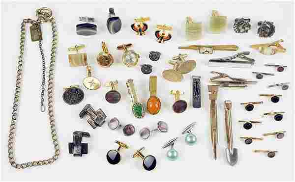 A Collection of Men's Jewelry.