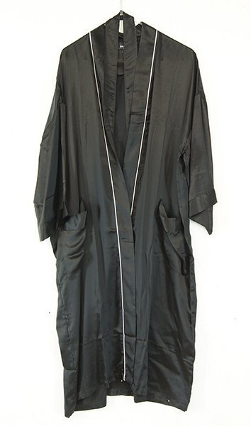 A Bill Blass Black Silk Smoking Jacket.