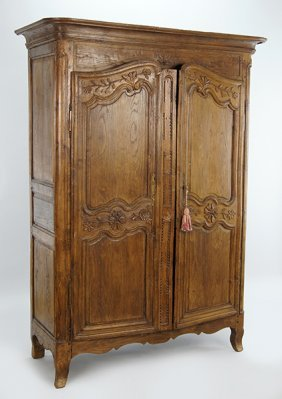 An 18th Century French Walnut Armoire.