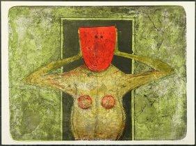 Rufino Tamayo (mexican, 1899-1991) La Masque Rouge.