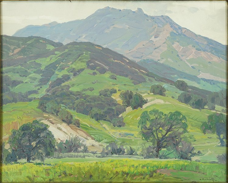 Hanson Puthuff (American, 1875-1972) Pasture Grounds.