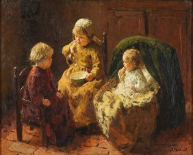 Bernhard Pothast (belgian, 1882-1966) Interior Scene Of