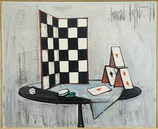 Bernard Buffet (French, 1928-1999) Damier et Cartes à J