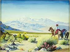 Oscar Edmund Berninghaus (American, 1874-1952) Taos