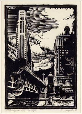 Charles Turzak (american, 1899-1985) Michigan Avenue