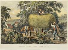 Currier & Ives (American, 19th Century) Haying-Time,