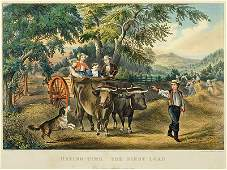 Currier & Ives (American, 19th Century) Haying-Time: