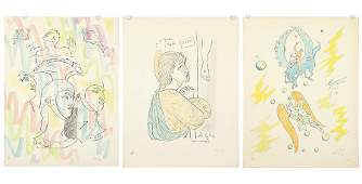 Jean Cocteau French 18891963 Three Color