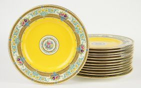 A Group Of Twelve Minton Dinner Plates.