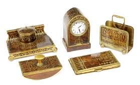 A Continental Art Nouveau Desk Set