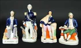 A Group Of Four 19th Century Staffordshire Pottery