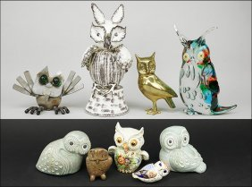 A Collection Of Owls.