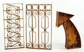 Two Iron Architectural Elements.