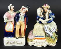 Two 19th Century Staffordshire Pottery Figural Groups.