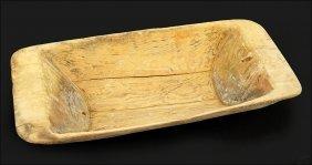 A Primitive Style Wood Dough Bowl.