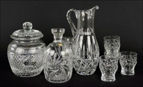 A Group Of Six Thomas Webb Cut Crystal Glasses.