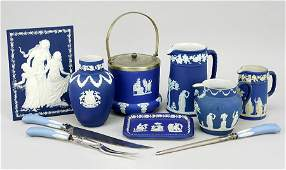 A Collection Of Wedgwood Jasperware Table Articles