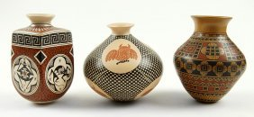 Three Southwestern Pottery Vessels.