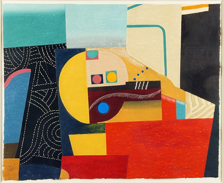 Max Papart (French, 1911-1994) Composition.