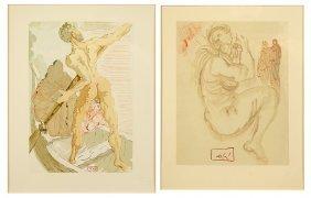 Salvador Dali (spanish, 1904-1989) 'inferno 3' And