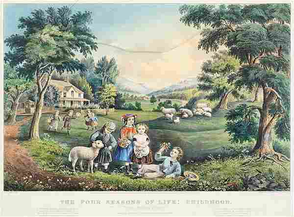 Currier & Ives (American, 19th Century) The Four