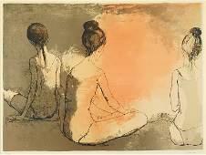 Jean Jansem (French, 1920-2013) Three Ballerinas.