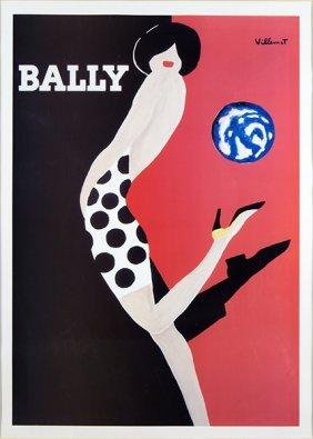 Bernard Villemot (french, 1911-1990) Poster For Bally.