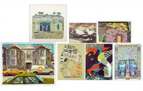 A Collection Of 20th Century Color Lithographs.