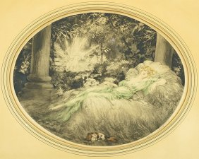 Louis Icart (french, 1888-1950) Sleeping Beauty.