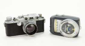 A Leica Ernst Leitz Wetzlar Camera.