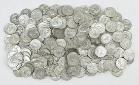 A Collection Of 195 Washington Silver Quarters.