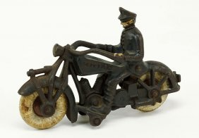 A Hubley Cast Iron Champion Motorcycle.