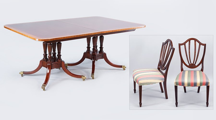 A Baker Historic Charleston Dining Suite.