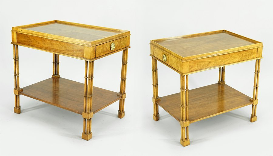 A Pair of Baker Side Tables.