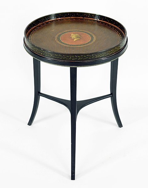 A Henry Clay Papier Mache Occasional Table.