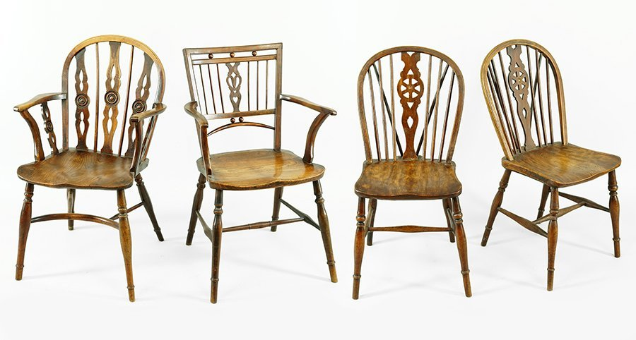A Pair of Oak Windsor Chairs.