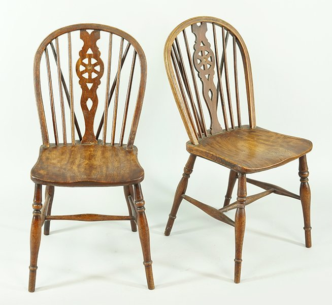 A Pair of Oak Windsor Chairs. - 2