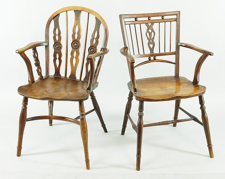 A Pair of Oak Windsor Chairs. - 3