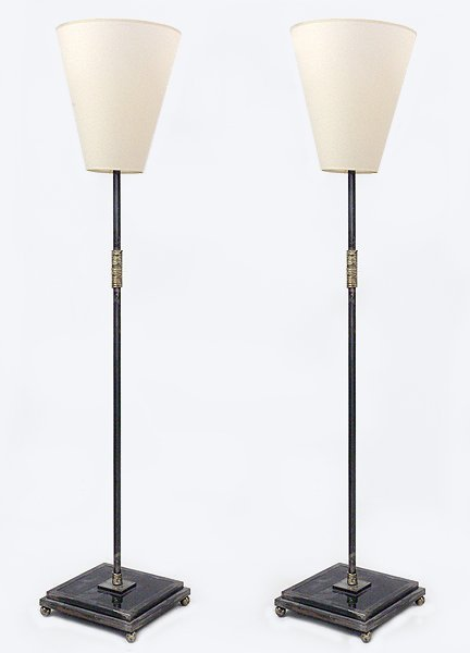 A Pair of Contemporary Metal Floor Lamps.