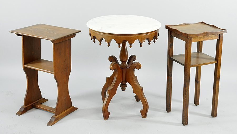 An Eastlake Style Marble Top Table.