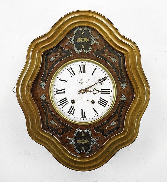 A French Mahogany Wall Clock.