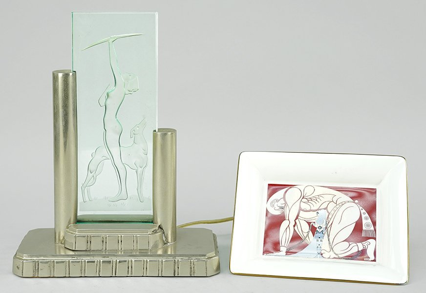 An Art Deco Style Table Lamp.