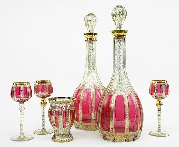 A Bohemian Glass Stemware Service.